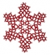Tatted Christmas Star in red OSW001