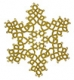 Tatted Christmas Star in gold OSW002