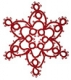 Tatted Christmas Star in red OSW006