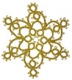 Tatted Christmas Star in gold OSW007