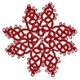 Tatted Christmas Star in red OSW011