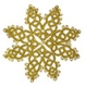 Tatted Christmas Star in gold OSW012