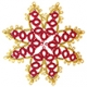 Tatted Christmas Star in gold and red OSW014