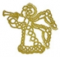 Tatted Christmas Angel in gold OSW017