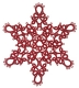 Tatted Christmas Star in red OSW019