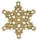 Tatted Christmas Star in gold OSW020