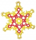 Tatted Christmas Star in gold and red OSW022