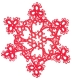 Tatted Christmas Star in red OSW024