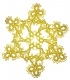 Tatted Christmas Star in gold OSW025