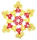 Tatted Christmas Star in gold and red OSW027